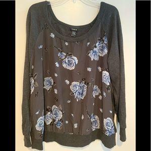 Gray floral Torrid shirt